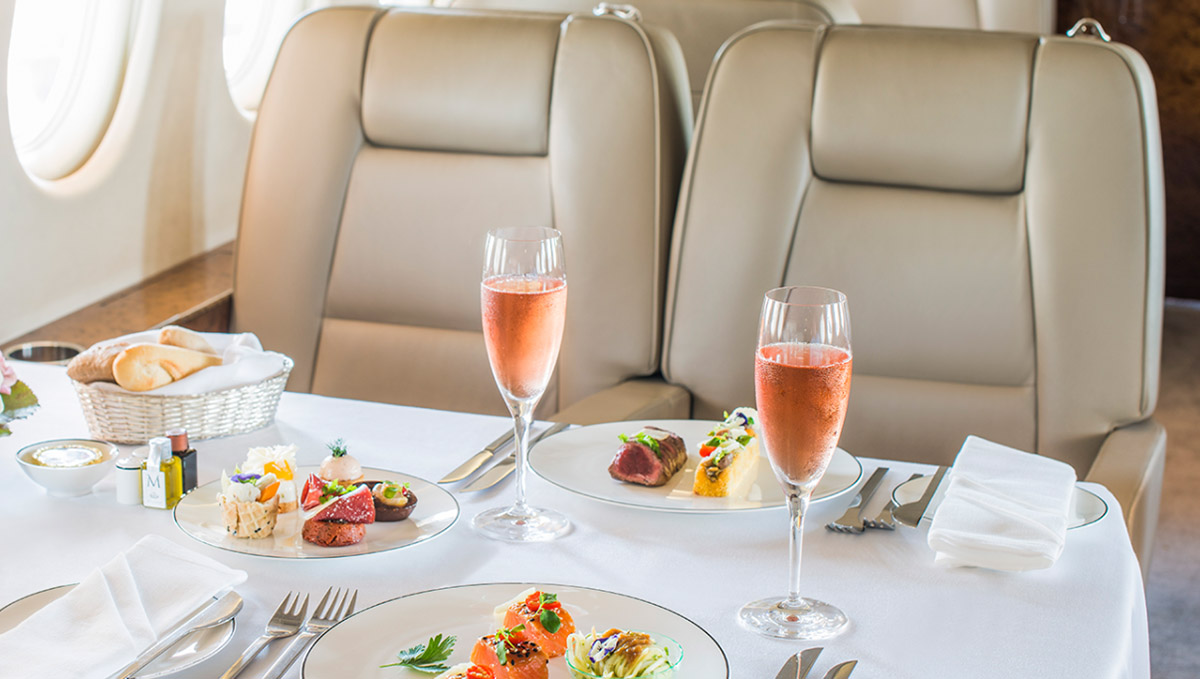 Decanter article - wine on a private jet